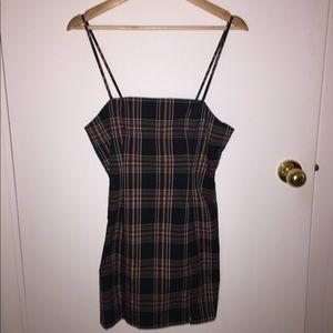 F21 Plaid Mini Slip Dress